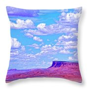 Mesa At Vermilion Cliffs Throw Pillow
