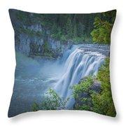 Mesa Falls - Yellowstone Throw Pillow