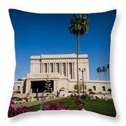 Mesa Temple Petunia Throw Pillow