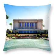 Mesa Temple Pool Throw Pillow