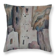 Mesa Verde In Pink Throw Pillow