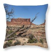 Mesas Near Moab Throw Pillow