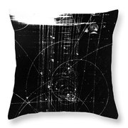 Mesons, Bubble Chamber Event Throw Pillow
