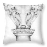 Mesopotamian Capital Throw Pillow