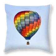 Mesquite Balloon Festival In Mesquite Nevada Throw Pillow