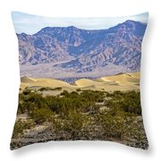 Mesquite Flat Sand Dunes Throw Pillow