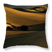 Mesquite Flat Sand Dunes Throw Pillow