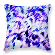 Mess In Blue Tones Throw Pillow