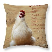 Message From A Chicken Throw Pillow
