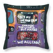 Message From Santa Fe Throw Pillow