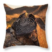 Message Rock Throw Pillow