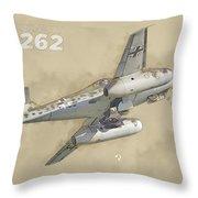Messerschmitt Me-262 Throw Pillow
