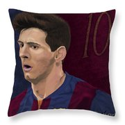 Messi-digital Oil Painting  Throw Pillow