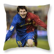 Messi 1 Throw Pillow