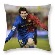 Messi 1 Throw Pillow