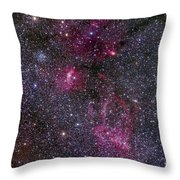 Messier 52 And The Bubble Nebula Throw Pillow