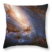 Messier 66 Galaxy Enhanced Throw Pillow