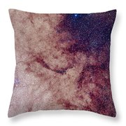 Messier 7 And Messier 6 Star Clusters Throw Pillow