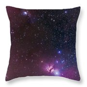 Messier 78 & Horsehead Nebula In Orion Throw Pillow