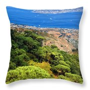 Messina Strait - Italy Throw Pillow