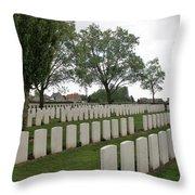 Messines Ridge British Cemetery Throw Pillow