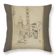 met uitzicht op de Al-Rifai moskee Throw Pillow