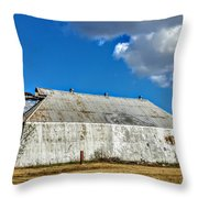 Metal Barn Throw Pillow