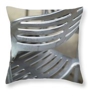 Metal Chair Throw Pillow