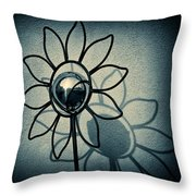 Metal Flower Throw Pillow