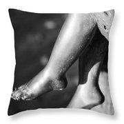 Metal Legs Black And White Throw Pillow