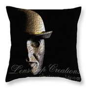 Metal Mask Silhouette Throw Pillow