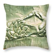 Metal Mermaid Throw Pillow