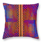 Metal Panel Abstract Throw Pillow