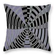 Metal Panel With Holes Abstract #3 Throw Pillow