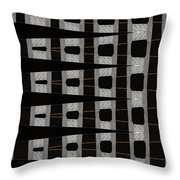 Metal Panel With Holes Abstract Throw Pillow