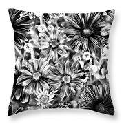 Metal Petals Throw Pillow