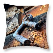Metal Piece Throw Pillow