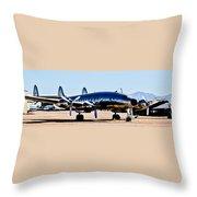 Metal Plane Throw Pillow