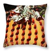 Metal Pumpkin Throw Pillow