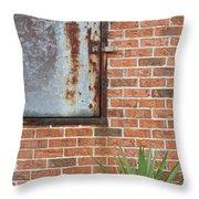 Metal, Rust And Brick Throw Pillow