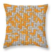 Metal Rusty Surface Throw Pillow