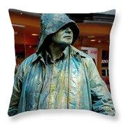 Metal Sailor Throw Pillow