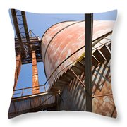 Metal Silos Throw Pillow