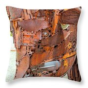 Metal Steer  Throw Pillow