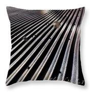 Metal Sunshine Throw Pillow