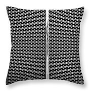 Metal Texture No.18 Bw Throw Pillow