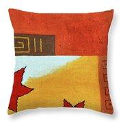 Metaleaf 2 Throw Pillow