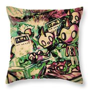 Metalheadsfest Throw Pillow