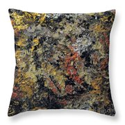 Metallic Abstraction Throw Pillow