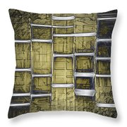 Metallic Amber Throw Pillow
